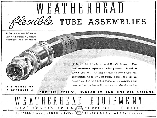 Aviation Corporates Weatherhead Flexible Tube Assemblies