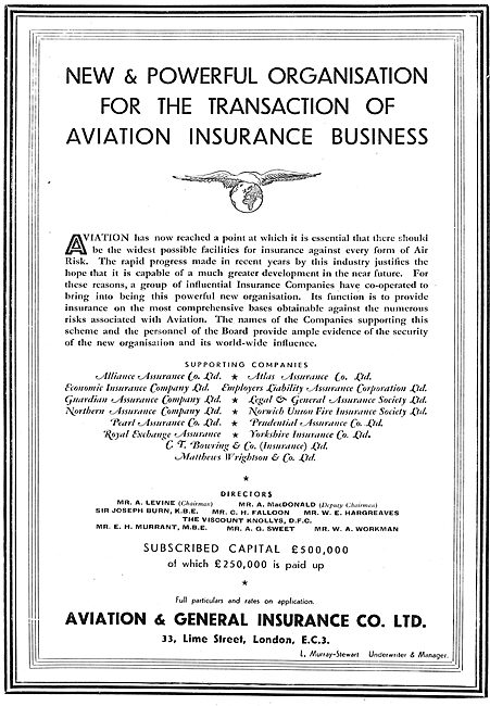 Aviation & General Insurance - Aviation Risks