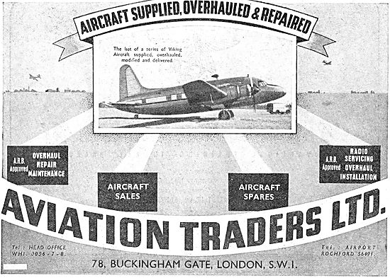 Aviation Traders. Aircraft Supplied, Overhauled & Repaired
