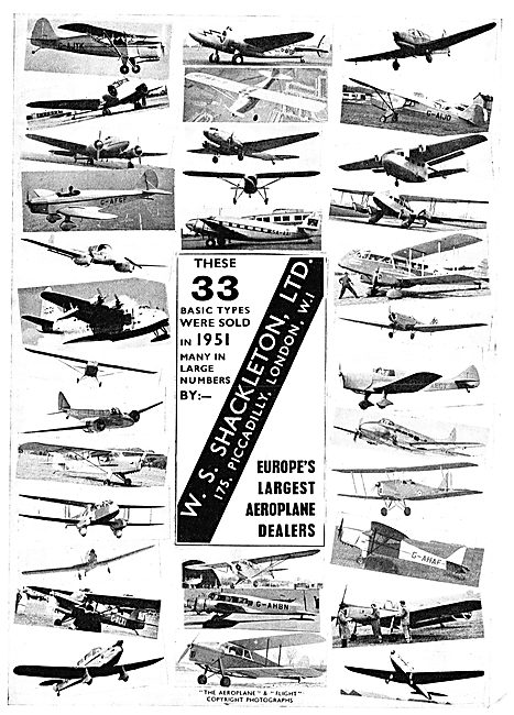 W.S.Shackleton Aircraft Dealers