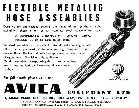Avica Flexible Hose Assemblies