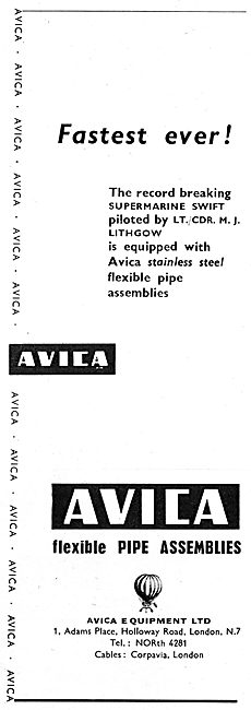 Avica Pipes, Pipework, Assemblies & Associated Equipment