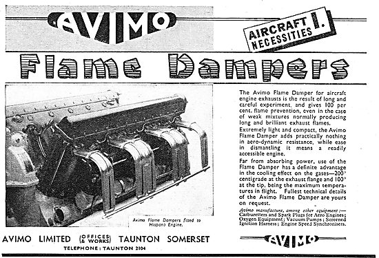 Avimo Flame Dampers For Aero Engines