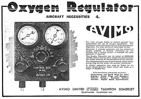 Avimo Aircraft Oxygen Regulator