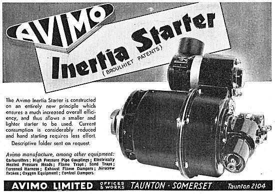 Avimo Aero Engine Inertia Starters