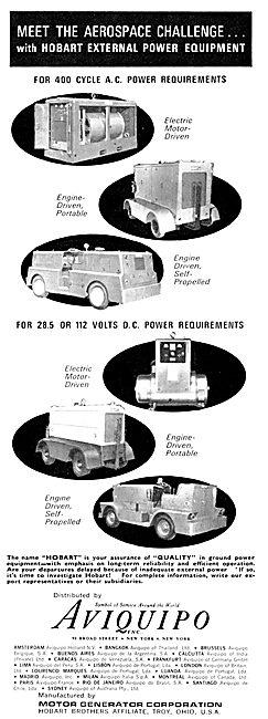 Aviquipo Ground Power Units - Hobart External Power Equipment