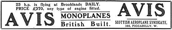 Avis Monoplane 25hp Flying At Brooklands - £370