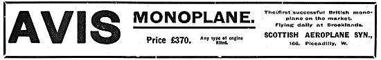 Avis Monoplane 25 or 60 HP £370