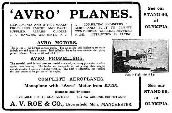 Avro - A.V.Roe & Co. Brownsfield Mills