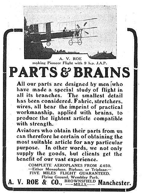 Avro Aeroplanes - Parts & Brains.