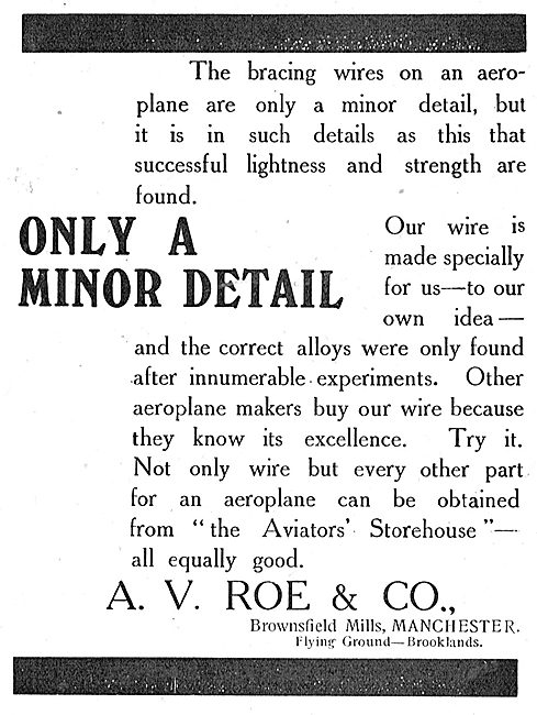 Avro Aeroplanes - Attention To Detail.