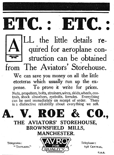 Avro - We Can Save You Money At The Aviators' Storehouse