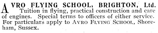 A.V.Roe & Co  - Avro Flying School Brighton Shoreham