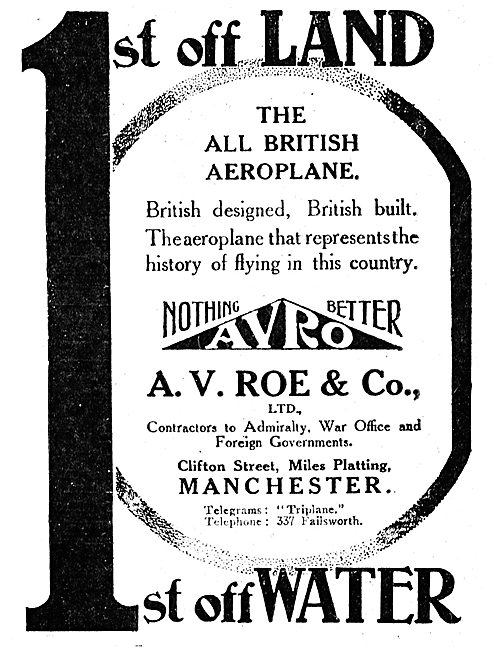 A.V Roe & Co - Miles Platting  Manchester