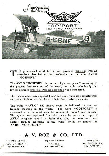 Avro Gosport G-EBNE