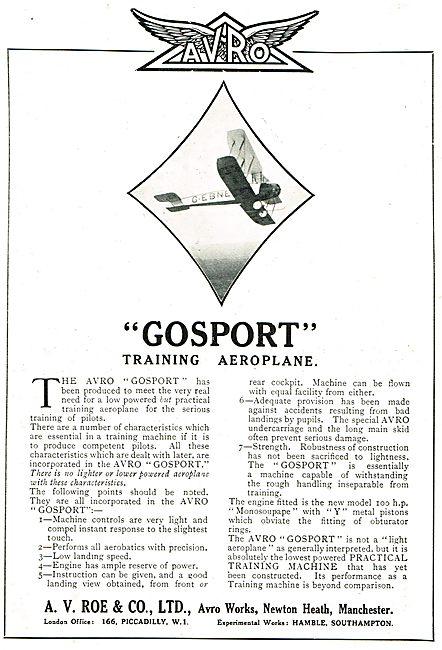 Avro Gosport -  7 Points To Note.