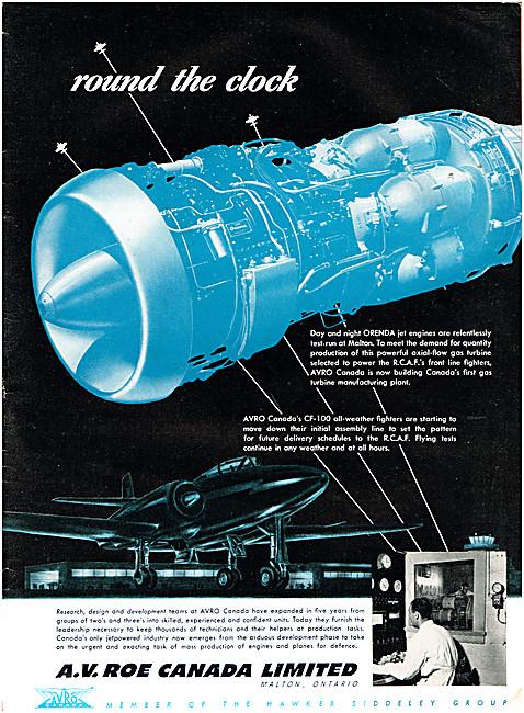 Avro Canada CF-100 Orenda Aero Engines