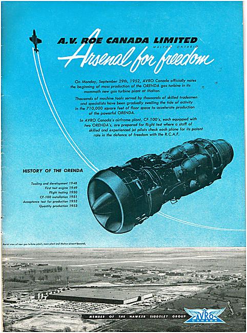 Avro Canada. Orenda Aero Engines
