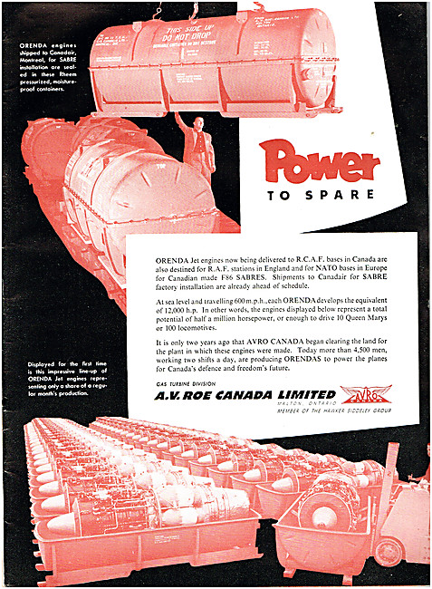 Avro Orenda Jet Engines