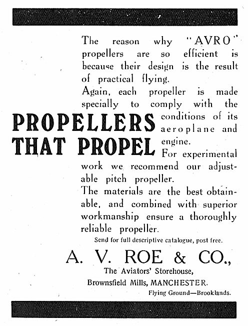 Avro Propellers. Propellers That Propel.