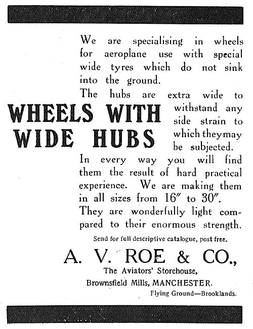 Avro Aeroplane Wheels With Wide Hubs