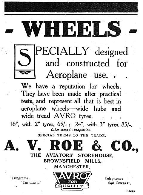 Avro Wheels Are Specially Designed For Aeroplane Use