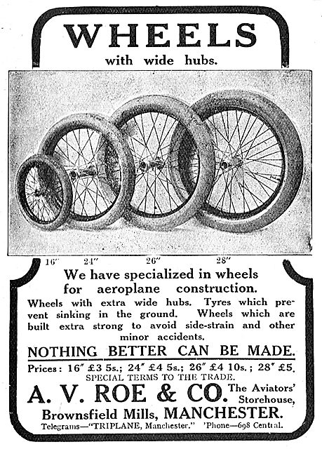 Avro Wheels With Wide Hubs. Nothing Better Can Be Made.