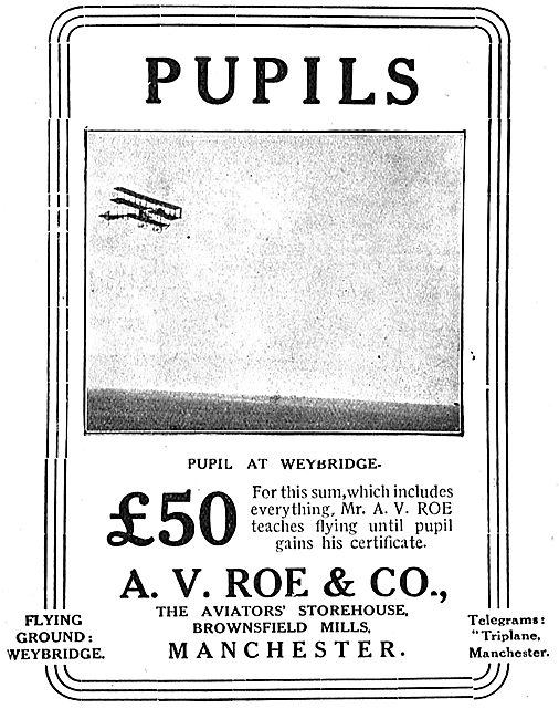 Avro - Learn To Fly With Mr A.V.Roe At Weybridge