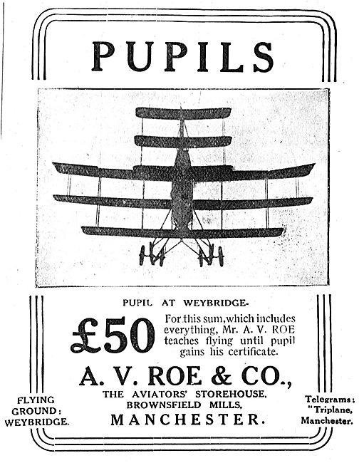 Avro - Learn To Fly With Mr A.V.Roe At Weybridge From £50