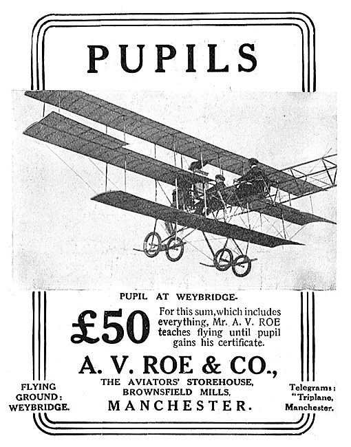 Avro - Learn To Fly With Mr A.V.Roe On The Avro Triplane
