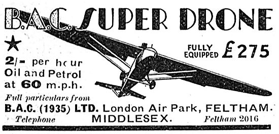 British Aircraft Company London Air Park: BAC Super Drone