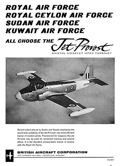 The RAF, Ceylon, Sudan & Kuwait Air Forces Choose BAC Jet Provost