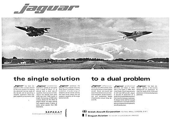 British Aircraft Corporation- BAC Breguet SEPECAT Jaguar