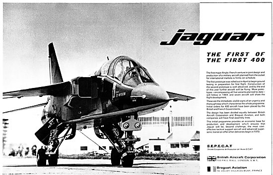 British Aircraft Corporation - BAC Breguet SEPECAT  Jaguar