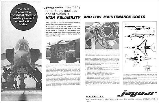 British Aircraft Corporation - SEPECAT Jaguar.