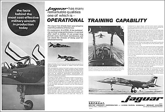 BAC - SEPECAT Jaguar. Operational Training Capability.