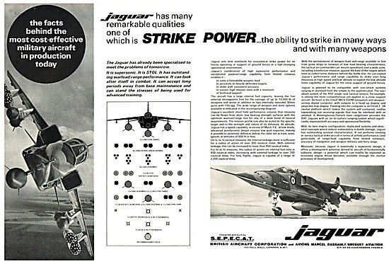 BAC - SEPECAT Jaguar. Strike Power.
