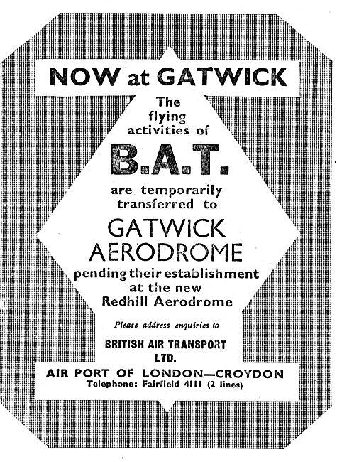 British Aerial Transport - Gatwick
