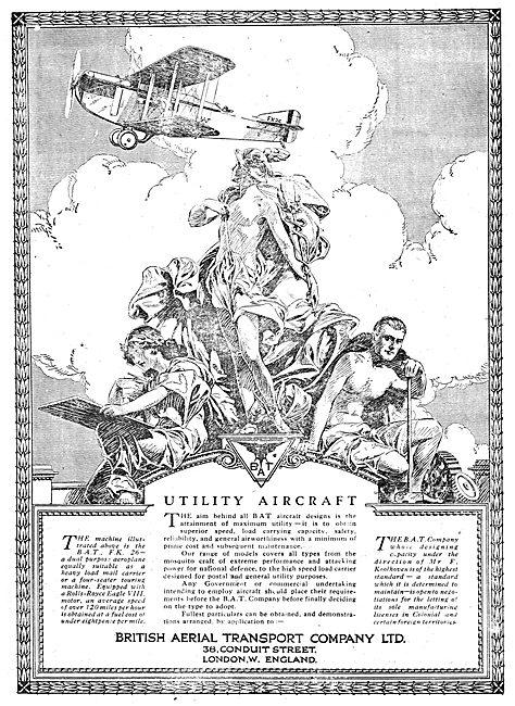British Aerial Transport: BAT FK26 Utility Aircraft