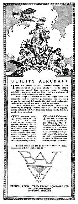 British Aerial Transport - BAT