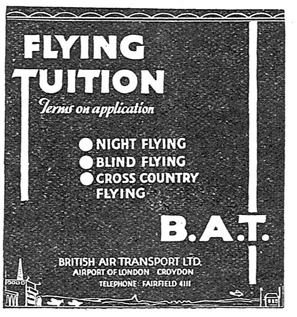 British Air Transport - BAT. Night Flying Tuition Croydon