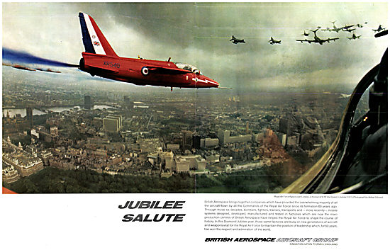 British Aerospace BAe Military Aircraft Jubilee Flypast 1978