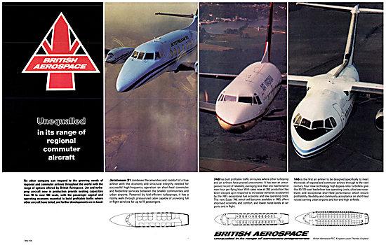 British Aerospace BAe Jetstream 31 BAe 748 BAe 146
