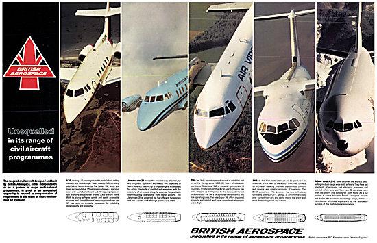 British Aerospace BAe 125 Jetstream  BAe ATP BAe 748 BAe 146