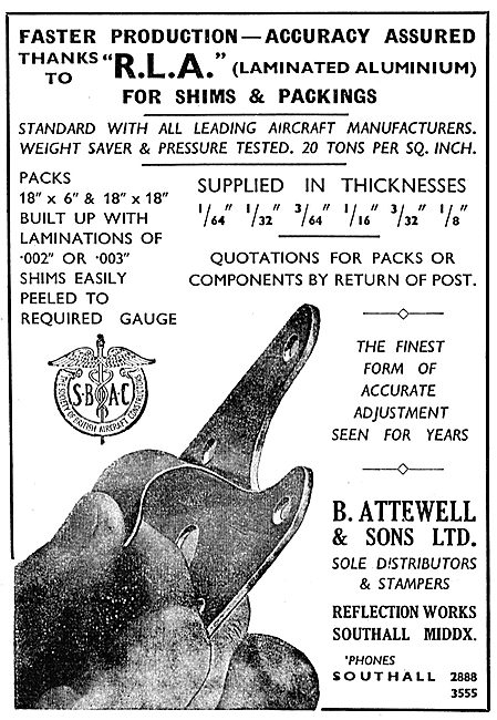 B.Attewell & Sons - Laminated Shims