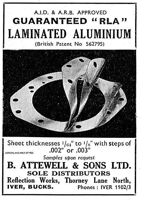 B. Attewell Suppliers Of RLA  Laminated Aluminium