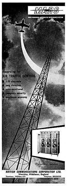 British Communications Corporation. BCC ATC Recording Equipment