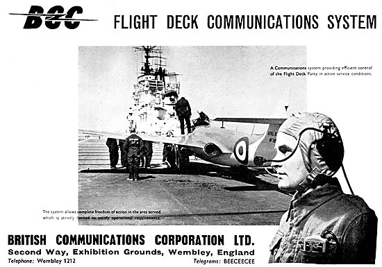 BCC British Communications Corp. Carrier Flight Deck Comms System