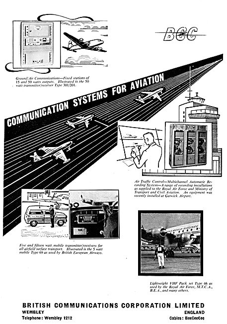 British Communications Corporation. BCC Radio Equipment