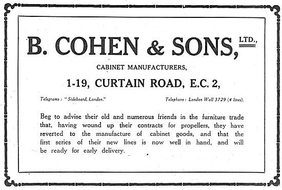 B.Cohen & Sons - Furniture Manufacturers 1919